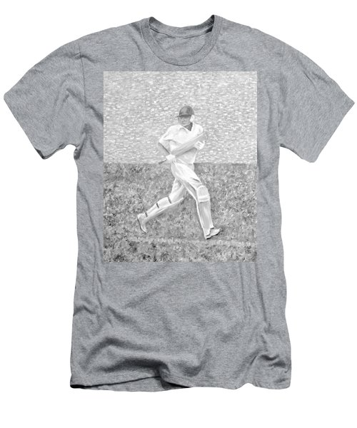 Men's T-Shirt (Athletic Fit) featuring the mixed media The Batsman by Elizabeth Lock