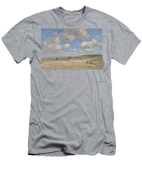 The Beach At Tourgeville Les Sablons Men's T-Shirt (Athletic Fit)