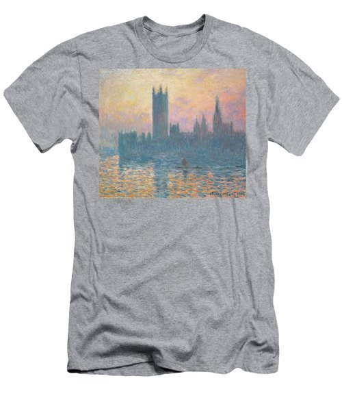 The Houses Of Parliament  Sunset Men's T-Shirt (Athletic Fit)