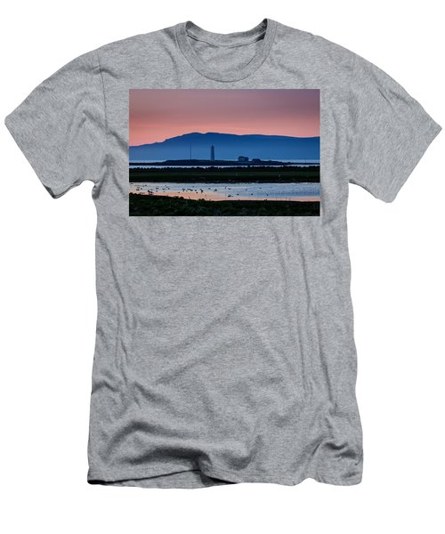 The Lighthouse At Grotta Men's T-Shirt (Athletic Fit)
