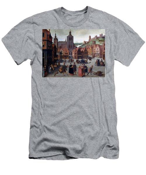 The Marketplace In Bergen Op Zoom Men's T-Shirt (Athletic Fit)