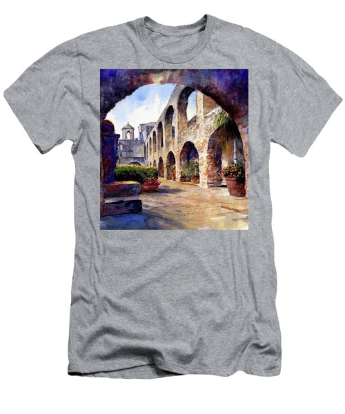 Men's T-Shirt (Athletic Fit) featuring the painting The Mission by Andrew King