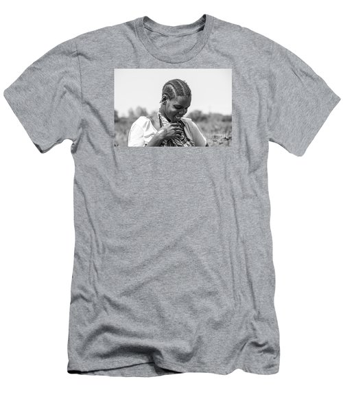 Men's T-Shirt (Slim Fit) featuring the photograph The Shy One by Pravine Chester