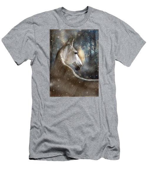 Men's T-Shirt (Slim Fit) featuring the digital art The Spirit Of Winter by Dorota Kudyba