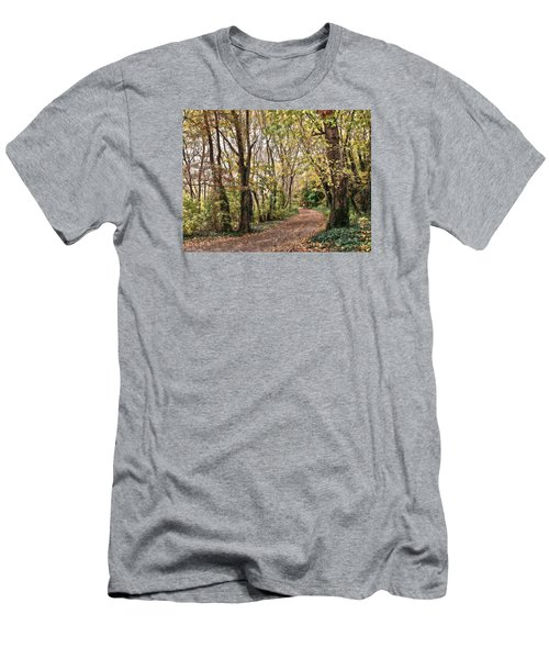 The Woods In Autumn Men's T-Shirt (Slim Fit) by Mikki Cucuzzo