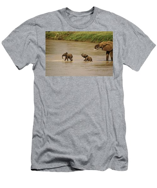 Tiny Elephants Men's T-Shirt (Athletic Fit)