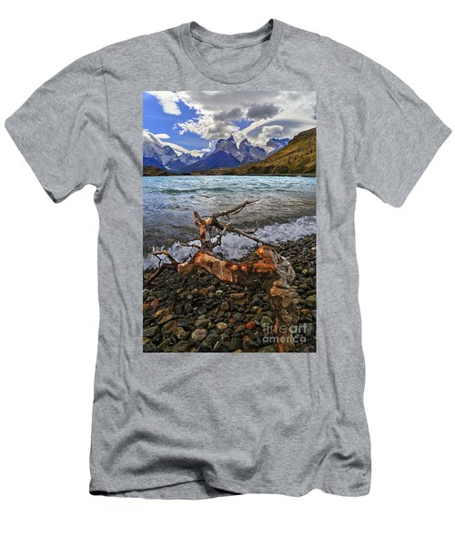 Torres Del Paine 17 Men's T-Shirt (Slim Fit) by Bernardo Galmarini