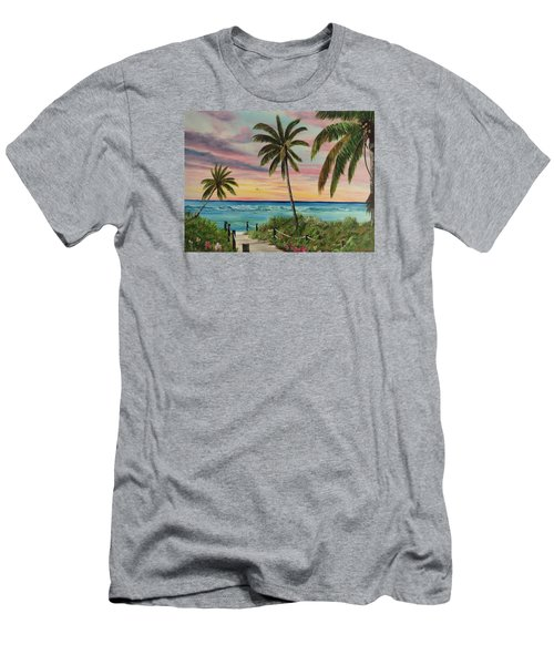 Tropical Paradise Men's T-Shirt (Slim Fit) by Lloyd Dobson