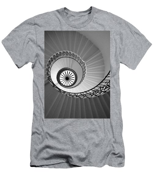 Men's T-Shirt (Athletic Fit) featuring the digital art Tulip Staircase by Julian Perry