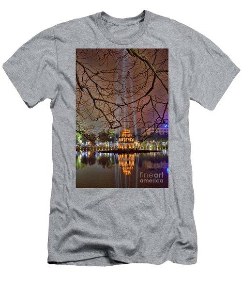 Turtle Tower Hanoi.  Men's T-Shirt (Athletic Fit)