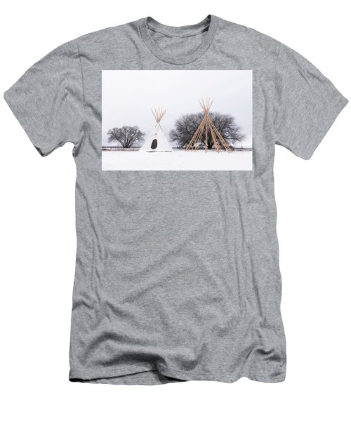 Two Tipis Men's T-Shirt (Athletic Fit)
