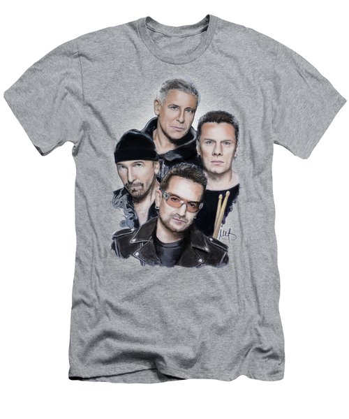 U2 Men's T-Shirt (Slim Fit) by Melanie D