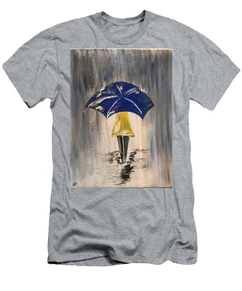 Umbrella Girl Men's T-Shirt (Athletic Fit)
