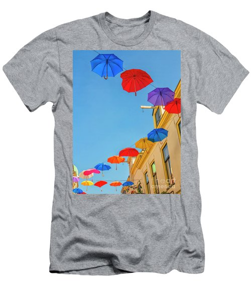 Umbrellas In The Sky Men's T-Shirt (Athletic Fit)