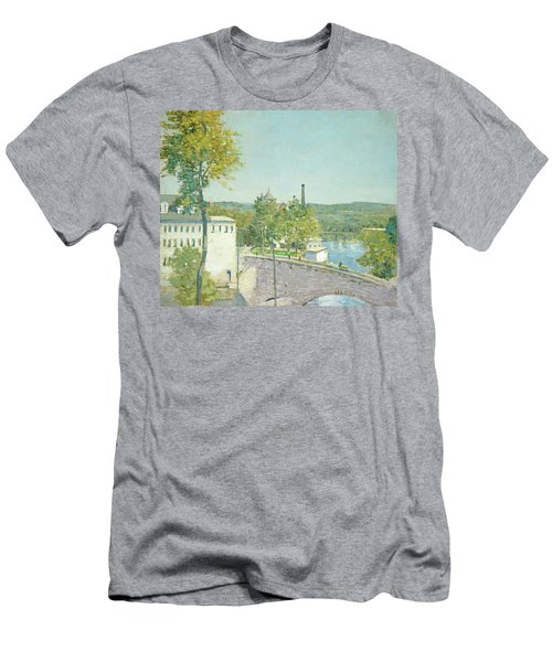 U.s. Thread Company Mills, Willimantic, Connecticut Men's T-Shirt (Athletic Fit)