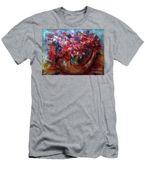 Men's T-Shirt (Slim Fit) featuring the painting Vase by Jasna Dragun