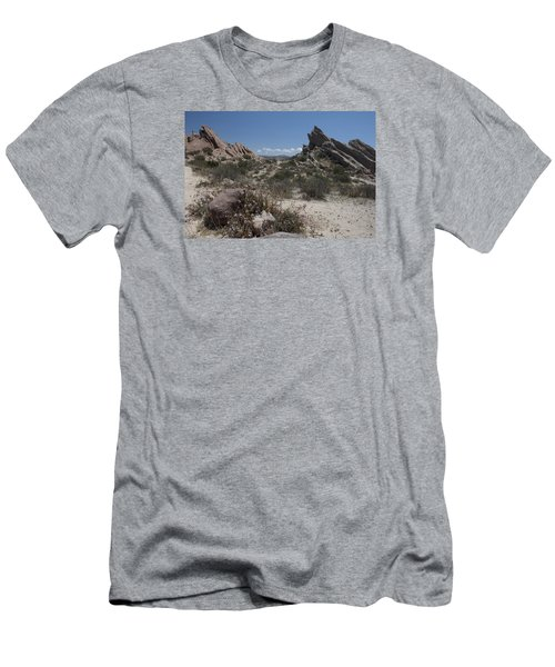 Vasquez Rocks Men's T-Shirt (Slim Fit) by Ivete Basso Photography