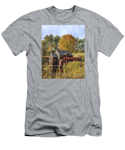 Men's T-Shirt (Athletic Fit) featuring the photograph Vermont Grist Mill by Edward Fielding