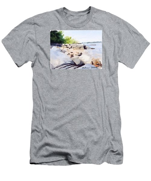 Wall And Beach At Ten Pound Island Men's T-Shirt (Athletic Fit)