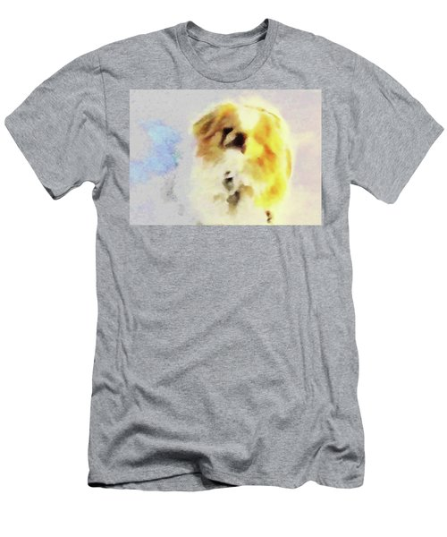 Men's T-Shirt (Athletic Fit) featuring the photograph Wasabi, Dog Painted. by Roger Bester