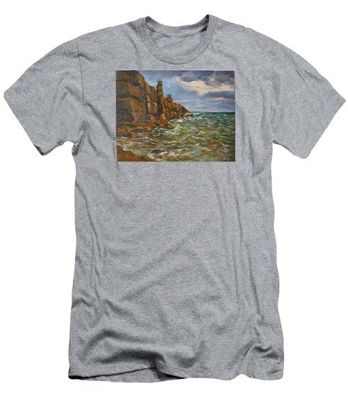 Wave  Men's T-Shirt (Slim Fit) by Jieming Wang
