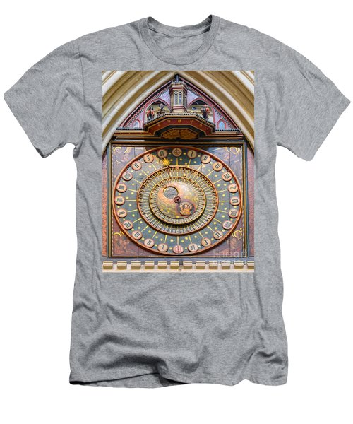 Wells Cathedral Clock Men's T-Shirt (Athletic Fit)