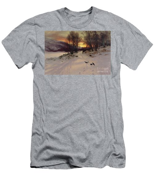 When The West With Evening Glows Men's T-Shirt (Slim Fit) by Joseph Farquharson