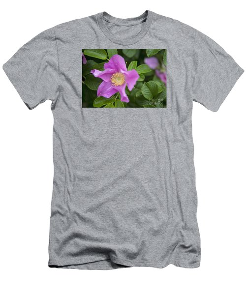 Men's T-Shirt (Slim Fit) featuring the photograph Wild Rose by Alana Ranney