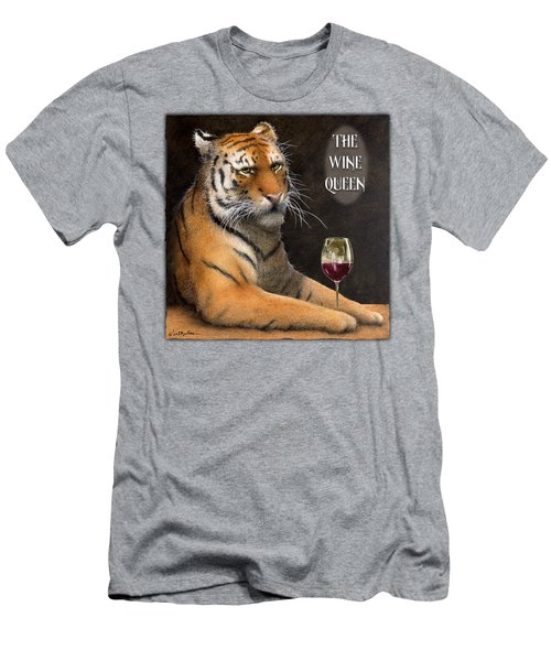 Wine Queen... Men's T-Shirt (Slim Fit) by Will Bullas