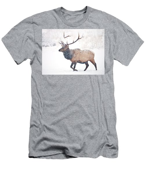 Men's T-Shirt (Slim Fit) featuring the photograph Winter Bull by Mike Dawson