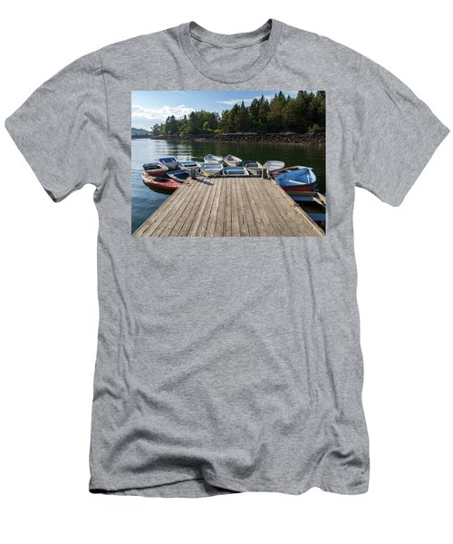 Winter Harbor Maine  Men's T-Shirt (Slim Fit) by Trace Kittrell
