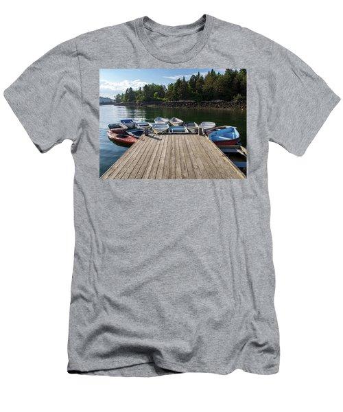 Winter Harbor Maine  Men's T-Shirt (Athletic Fit)