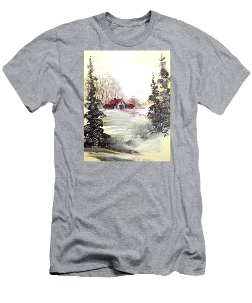 Winter Landscape Men's T-Shirt (Slim Fit) by Dorothy Maier