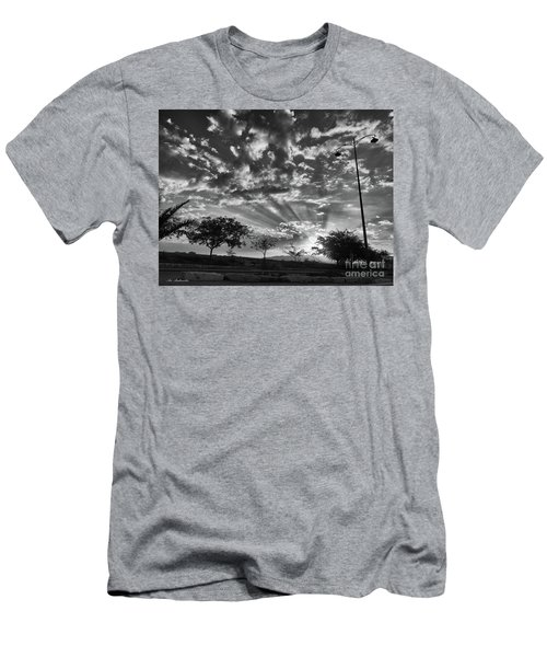 Men's T-Shirt (Slim Fit) featuring the photograph Winter Sunset by Arik Baltinester