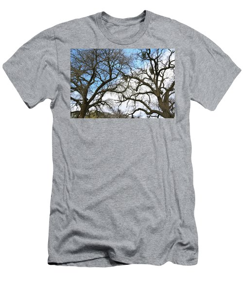 Men's T-Shirt (Slim Fit) featuring the photograph Winter Trees At Fort Tejon Lebec California  by Floyd Snyder