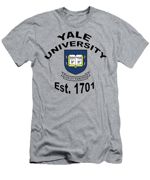 Yale University Est 1701 Men's T-Shirt (Athletic Fit)