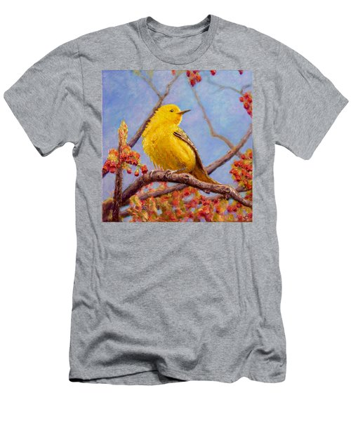 Yellow Warbler Men's T-Shirt (Slim Fit) by Joe Bergholm