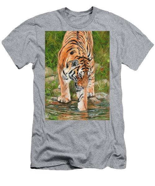 Amur Tiger Men's T-Shirt (Athletic Fit)