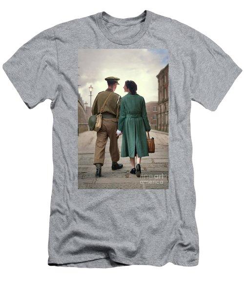 1940s Couple Men's T-Shirt (Slim Fit) by Lee Avison