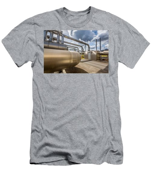 Pipes At Nesjavellir Geothermal Power Men's T-Shirt (Athletic Fit)