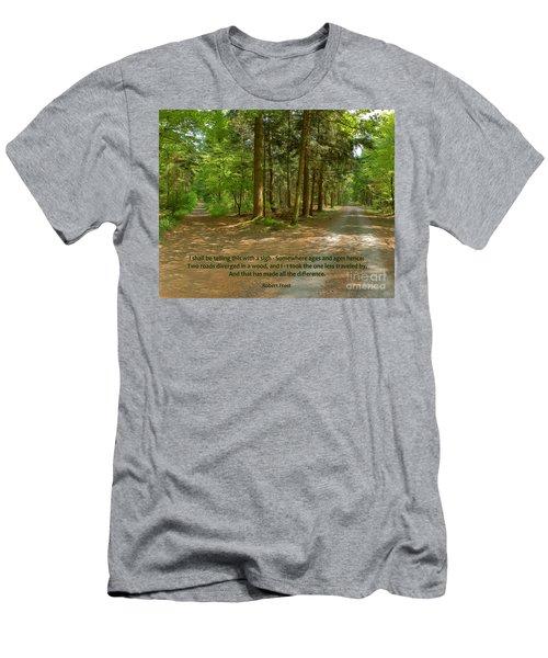 12- The Road Not Taken Men's T-Shirt (Slim Fit) by Joseph Keane