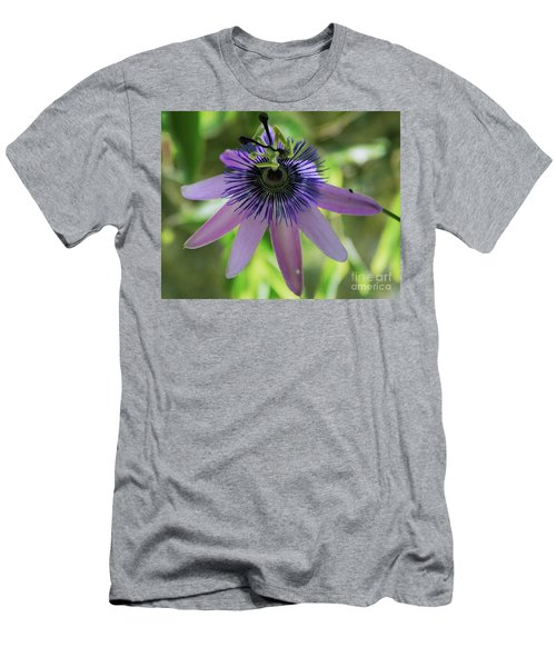 Purple Passiflora Men's T-Shirt (Athletic Fit)