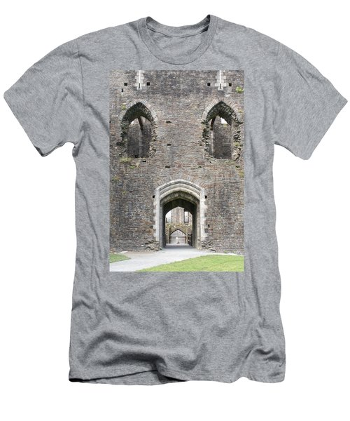 Caerphilly Castle Men's T-Shirt (Slim Fit) by Carol Ailles