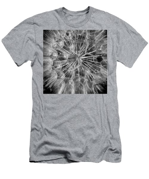 Black And White Flower  Men's T-Shirt (Athletic Fit)