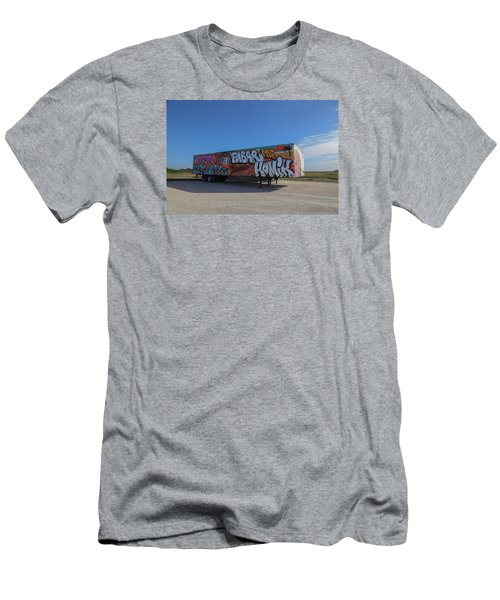 18 Wheeler Art Men's T-Shirt (Athletic Fit)