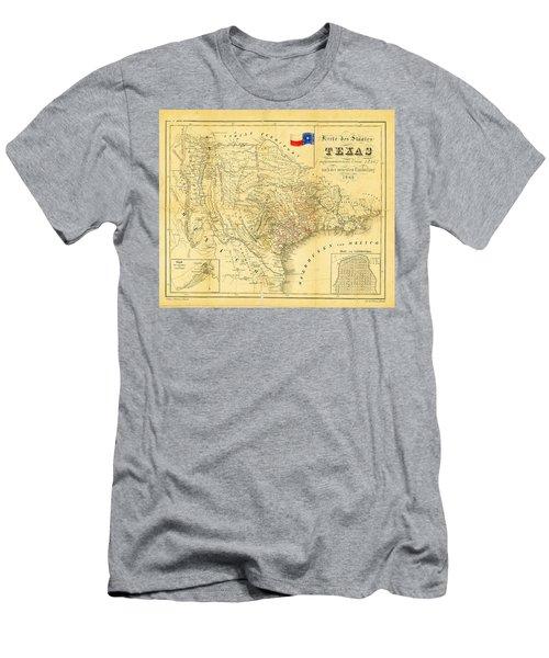 1849 Texas Map Men's T-Shirt (Athletic Fit)