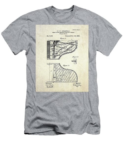 1880 Steinway Piano Forte Patent Art Sheet 1  Men's T-Shirt (Athletic Fit)