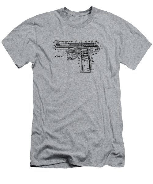 1911 Automatic Firearm Patent Minimal - Vintage Men's T-Shirt (Athletic Fit)
