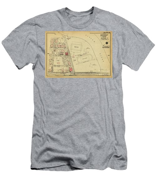 Men's T-Shirt (Athletic Fit) featuring the photograph 1927 Baker Field Map  by Cole Thompson