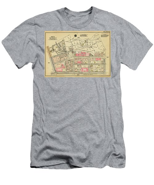 Men's T-Shirt (Athletic Fit) featuring the photograph 1927 Inwood Map  by Cole Thompson